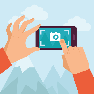 take a high resolution picture on your own camera or phone camera